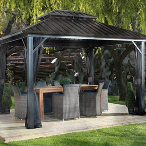 Sojag Genova II Hard Top Gazebo with Double Steel Roof