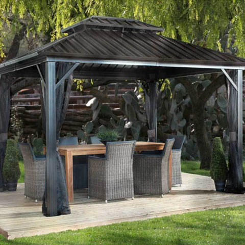 Image of Sojag Genova II Hard Top Gazebo with Double Steel Roof