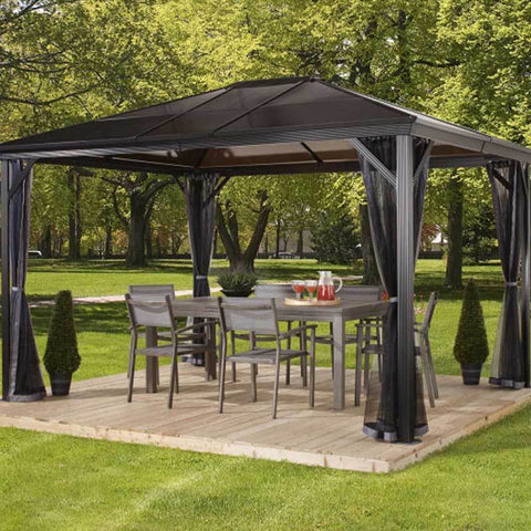 Enjoy outdoor living under a Verona outdoor gazebo by Sojag
