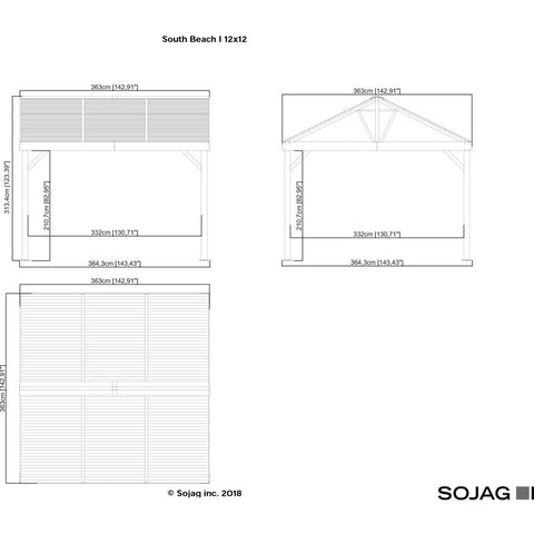 Image of Sojag South Beach I Hard Top Gazebo 12 x 12 ft