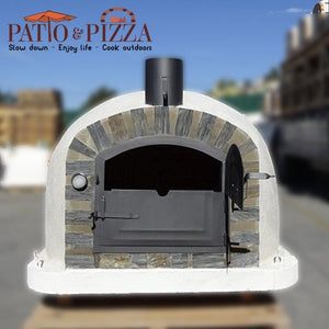 Lisboa Brick Pizza Oven with Stone Face