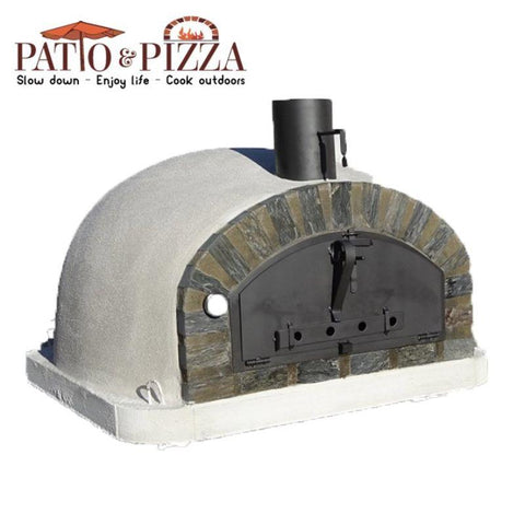 Pizzaioli brick oven with stone arch