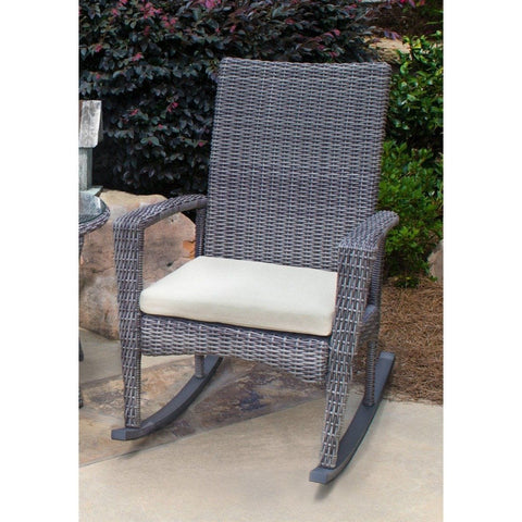 Bayview Rocking Chair By Tortuga Outdoor Great Room - Pecan