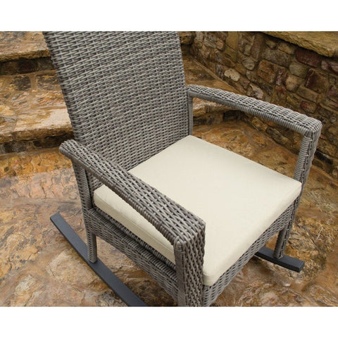 Image of Bayview Rocking Chair By Tortuga Outdoor Great Room - Pecan