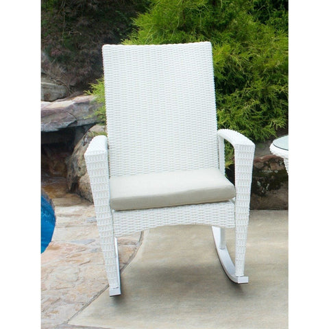 Image of Bayview Rocking Chair By Tortuga Outdoor Great Room - Magnolia
