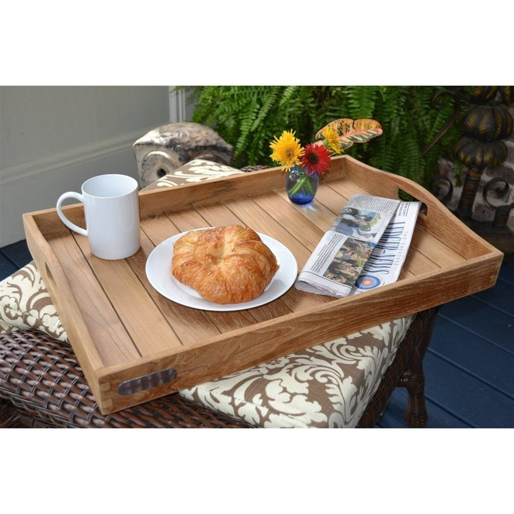 Teak Serving Tray - Jakarta By Tortuga Outdoor Great Room