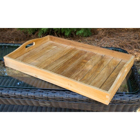 Image of Teak Serving Tray - Jakarta By Tortuga Outdoor Great Room