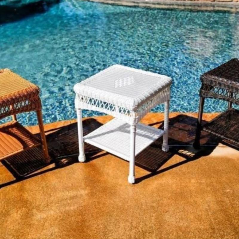 Side Table - Portside Wicker By Tortuga Outdoor Great Room