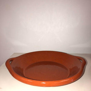 Terracotta Portuguese Ceramic Pie Dish