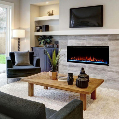 "Image of Touchstone Sideline 72 80015 72"" Recessed Electric Fireplace"