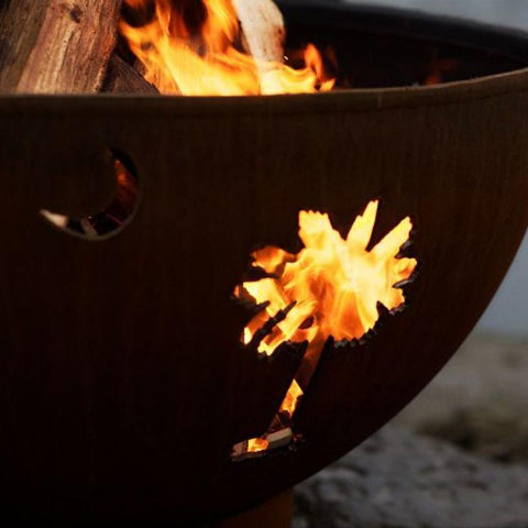 Image of Fire Pit Art- Tropical Moon