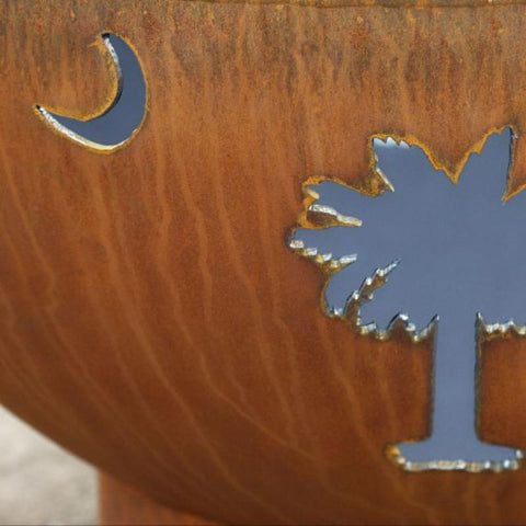 Fire Pit Art- Tropical Moon