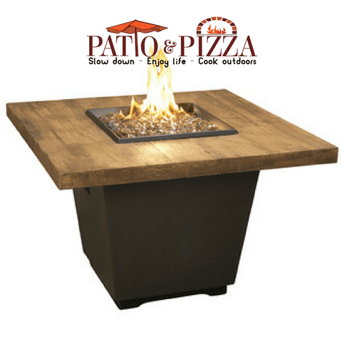 American Fyre Designs French Barrel Oak Cosmo Square Firetable