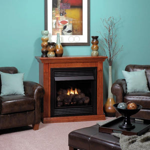 Empire Vail Traditional Vent-Free Fireplaces Special Edition with Mantel 26""
