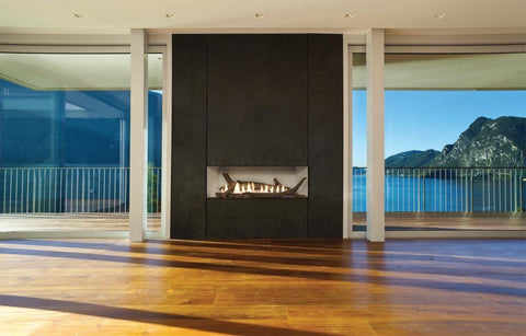 Image of Empire Boulevard Linear Contemporary Vent-Free Fireplaces 38""