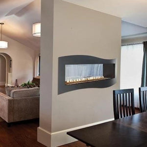 Empire Boulevard Linear See-Through Vent-Free Fireplaces 48""