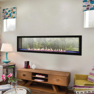 Empire Boulevard Linear See-Through Vent-Free Fireplaces 60""