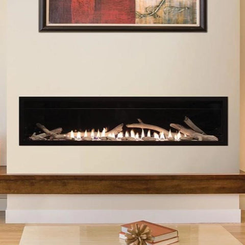 Image of Empire Boulevard Linear Contemporary Vent-Free Fireplaces 60""