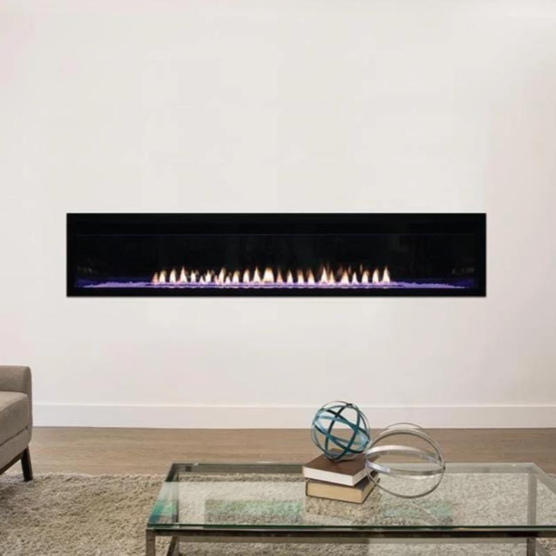 Empire Boulevard Linear Contemporary Vent-Free Fireplaces 72""