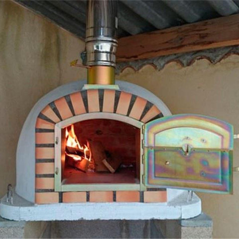 Image of Lisboa Brick Wood Fired Pizza Oven Burning