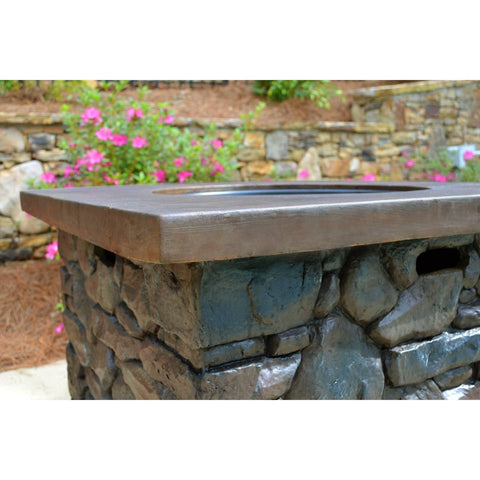 Fire Pit Table: Yosemite II Propane By Tortuga Outdoor Room YOS-FIRE