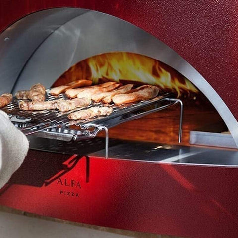 Cooking chicken wings in the Alfa Allegro Pizza Oven