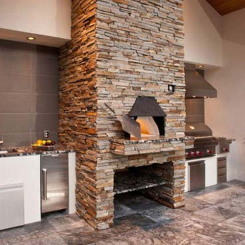 Wood-fired Pizza Oven installed indoors in kitchen