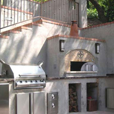 Outdoor pizza oven built from Earthstone Ovens Modular DIY Kit