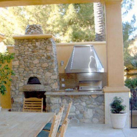 Outdoor wood pizza oven built from Earthstone Ovens DIY Kit