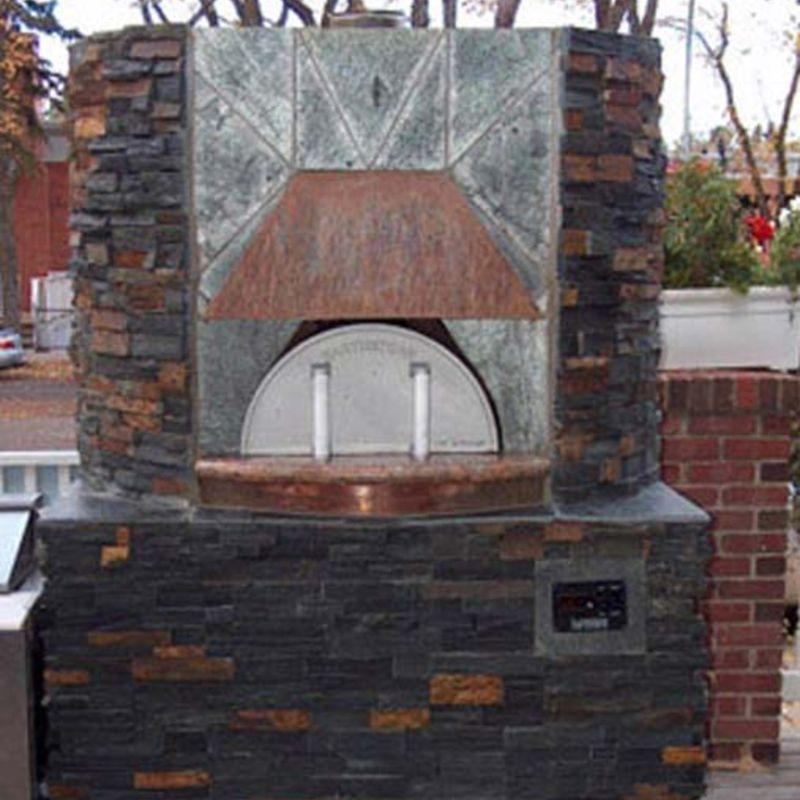 Authentic pizza oven built outside with Earthstone Ovens DIY Kit