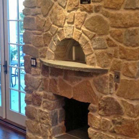 Indoor pizza oven built from Earthstone Ovens Modular DIY Kit