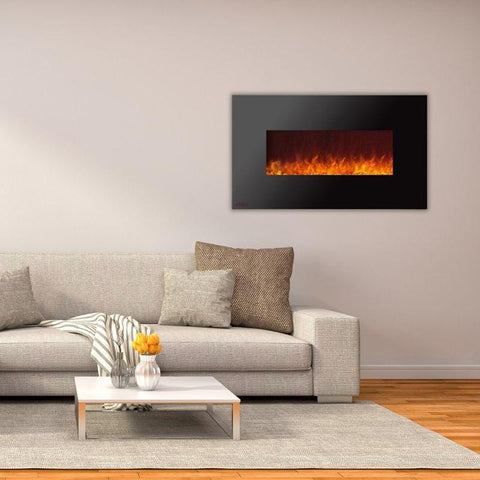 Image of Ignis Royal Black Electric Fireplace 50-inch