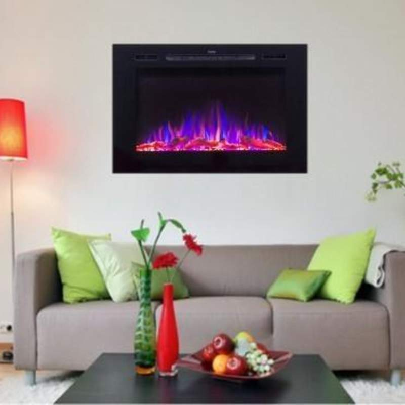 "Forte 80006 40"" Recessed Electric Fireplace"