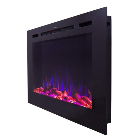 "Image of Forte 80006 40"" Recessed Electric Fireplace"