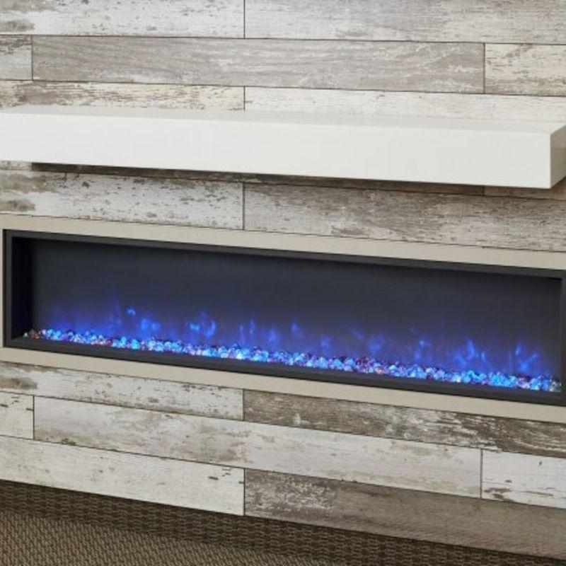 Non-Combustible White Supercast Modern Mantel