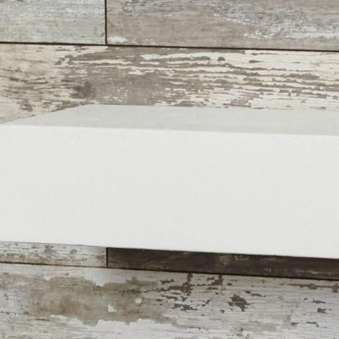 Image of Non-Combustible White Supercast Modern Mantel