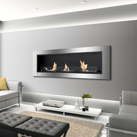 Image of Ignis Ardella Recessed Ventless Ethanol Fireplace with Front Glass