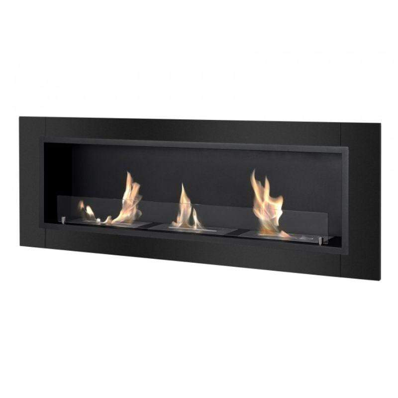 Ignis Ardella Recessed Ventless Ethanol Fireplace with Front Glass