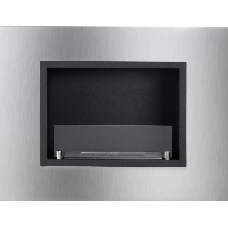 Ignis Quadra Recessed Ethanol Fireplace with Front Glass