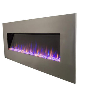 "AudioFlare 80024 Stainless 50"" Recessed Electric Fireplace"