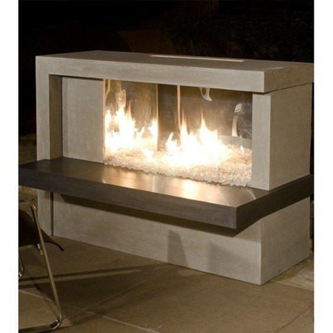 Firebox Manhattan Fireplace - Stainless Steel by American Fyre Desings Outdoor Heating