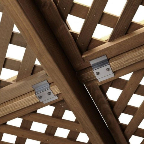 Mocha Wood Lattice for 12 x 12' Sonoma Pergola