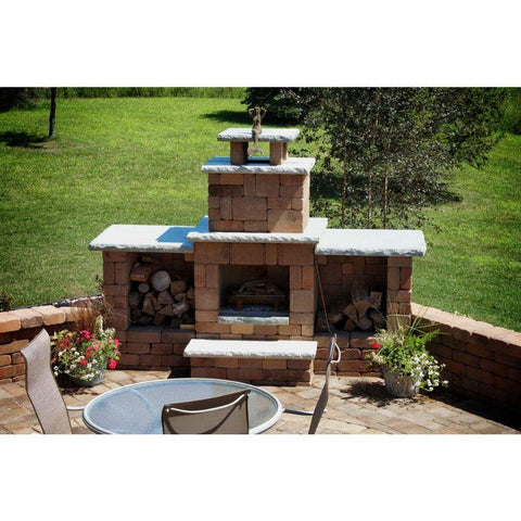 Necessories Compact Fireplace with Hearth