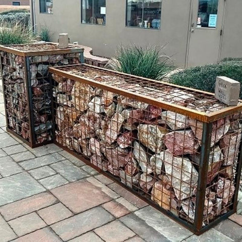 Image of Gabion Pizza Oven Stand
