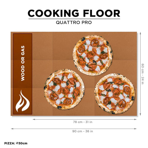Image of Alfa Quattro Pro Oven Cooking Pizzas