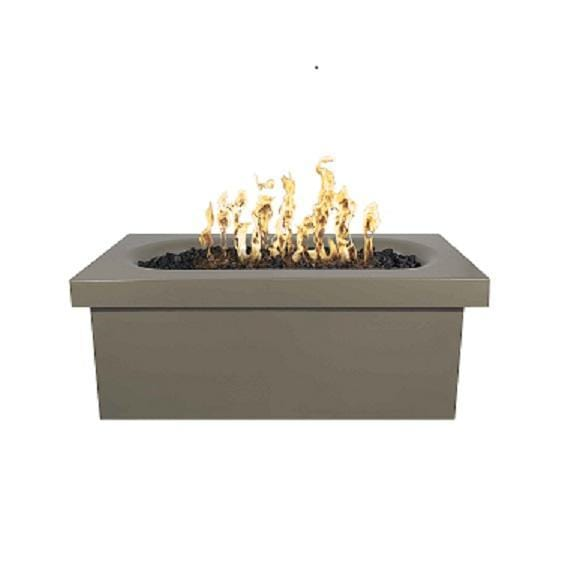 Ramona – 60″ Rectangular Fire Pit Table Ash