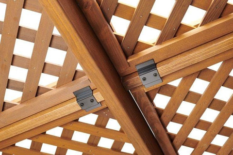 Redwood Wood Lattice for 12 x 12' Sonoma Pergola