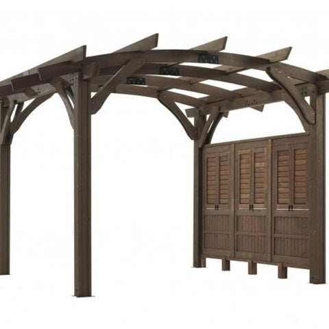 Mocha Wood Wall for 12x12' Sonoma Pergola