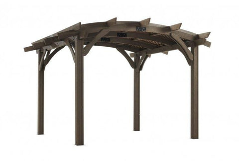 Image of 12x12' Mocha Sonoma Wood Pergola Kit