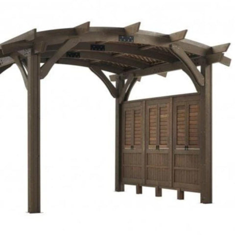 Pergola Kit - Sonoma Wood with Side Wall